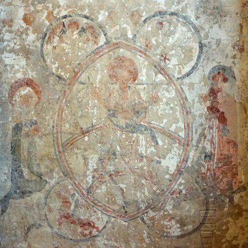 Secco Malerei aus dem 13. Jahrhundert